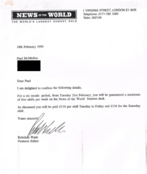 Signed: Rebekah Wade hires Mr McMullan
