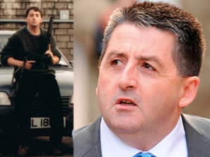Handler: Ian Hurst today, and left pictured during The Troubles