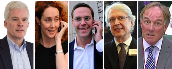 """Non admissions"": l-r Chapman, Brooks, Murdoch, Hinton, Crone"