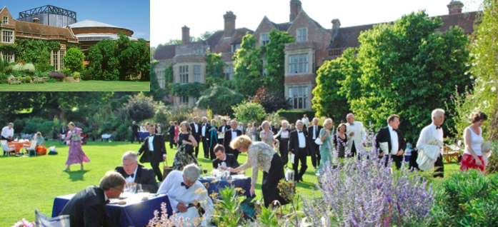 Quintessential English: Glyndebourne Festival picnickers and (inset) the opera house itself (c) Telegraph