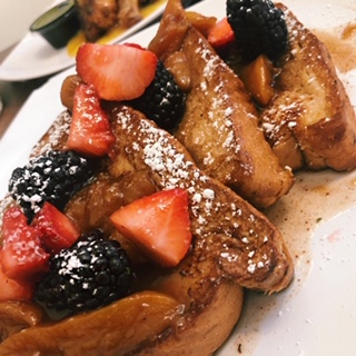 Peach Cognac French Toast