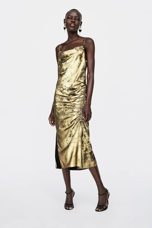 ZARA Metallic Dress- $69