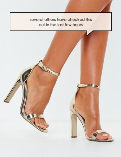 Missguided Barey There Heels- $18