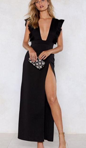 Nasty Gal Plunge Dress- $20