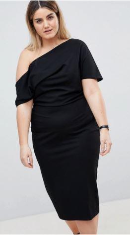 ASOS Asymmetrical Shoulder Dress- $56