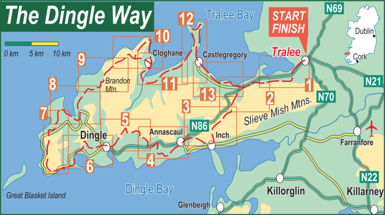 Dingle Bay Ireland Map.Tough Soles Day 125 130 The Dingle Way