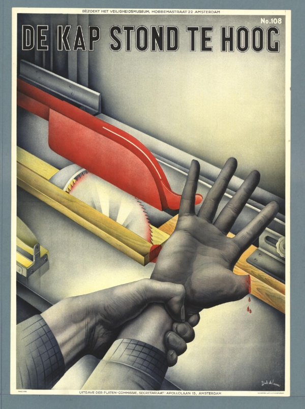 German Safety Poster Woodworking