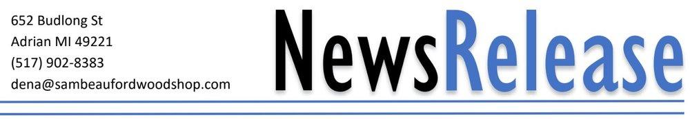 Sam Beauford Woodshop Press Release