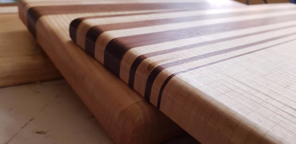 Make a cutting board at our woodworking school in Adrian, MI
