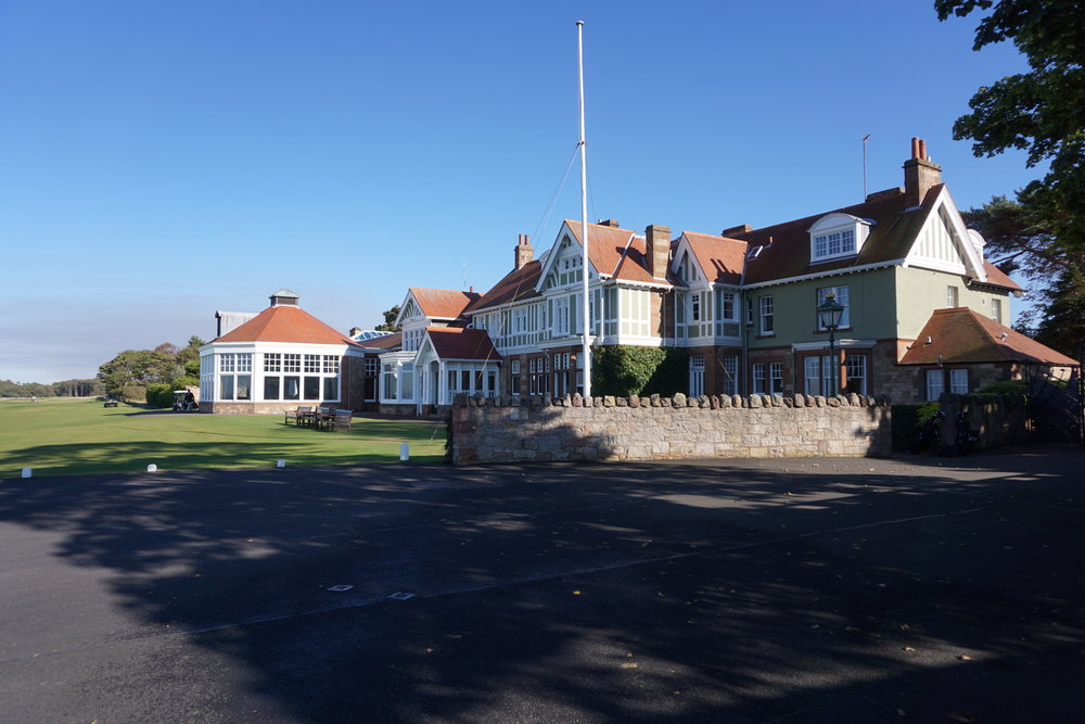 The iconic clubhouse at Muirfield.