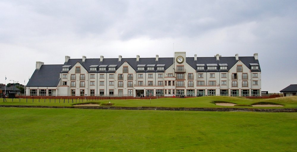 The famous hotel at the 18th green.