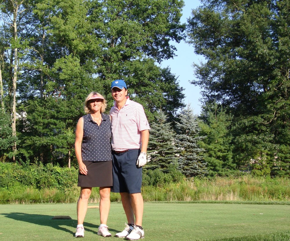 Gill and me out on the course.