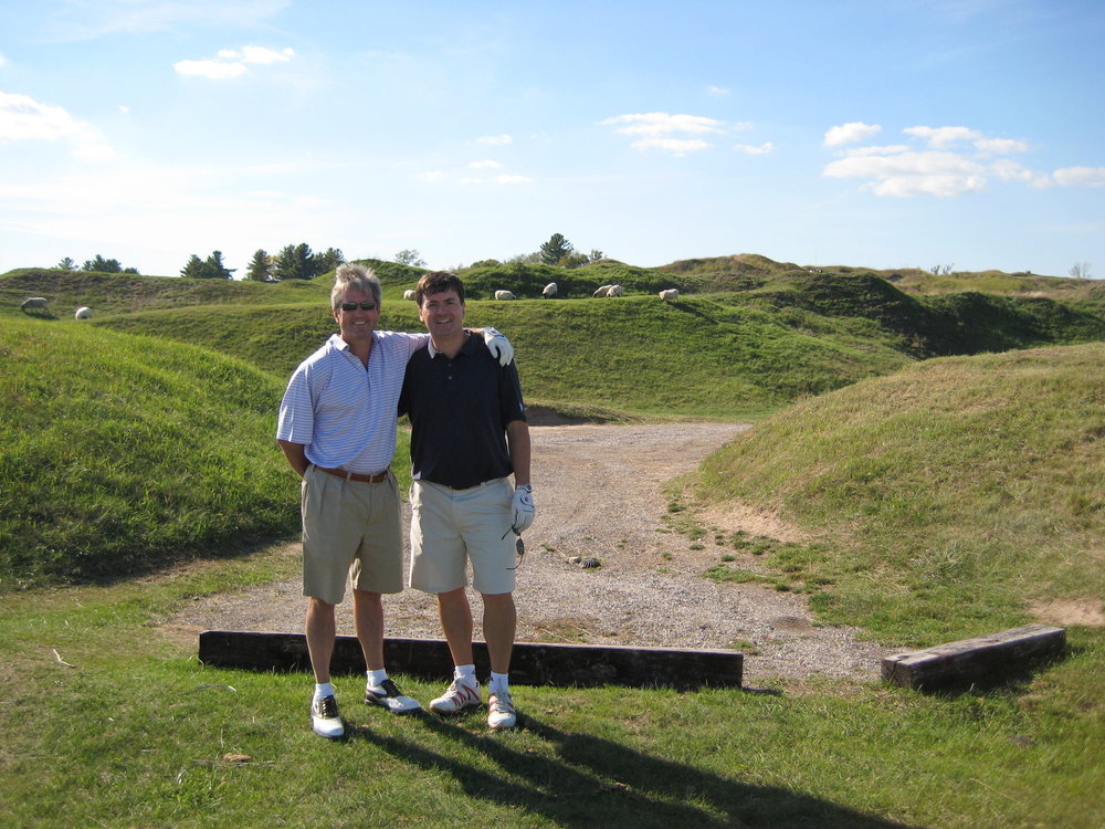 Clarke and me at the Irish course