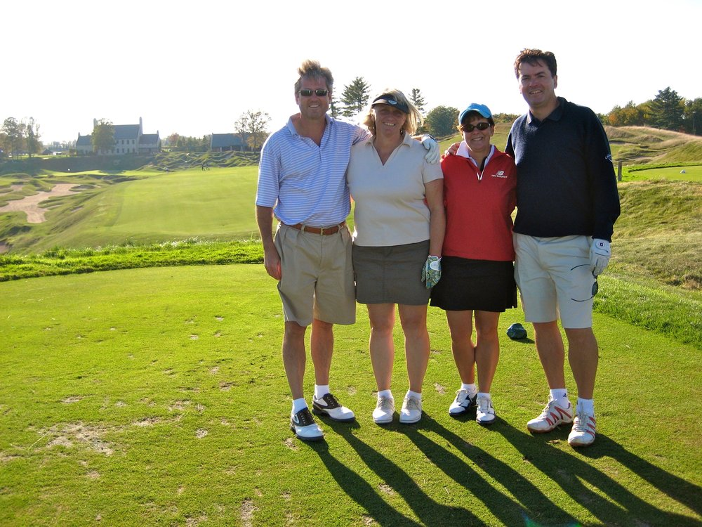 This is Clarke, Gill, Trish and me in September 2007 at the Championship course.