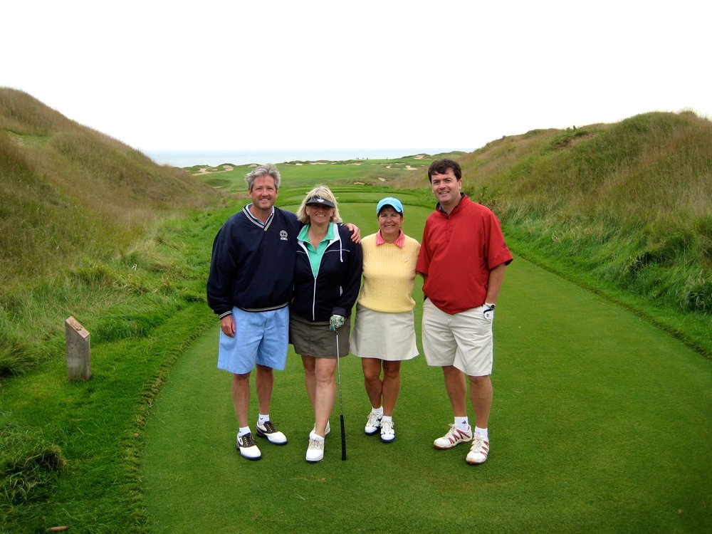 The group again at the Irish course