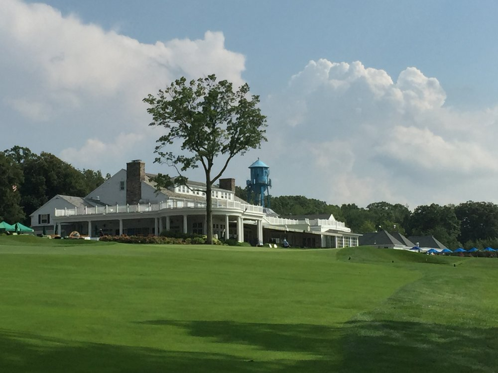 The Clubhouse from course one, ninth fairway.