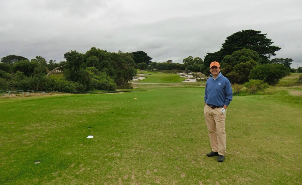 Me at the Club. Fantastic golf course.