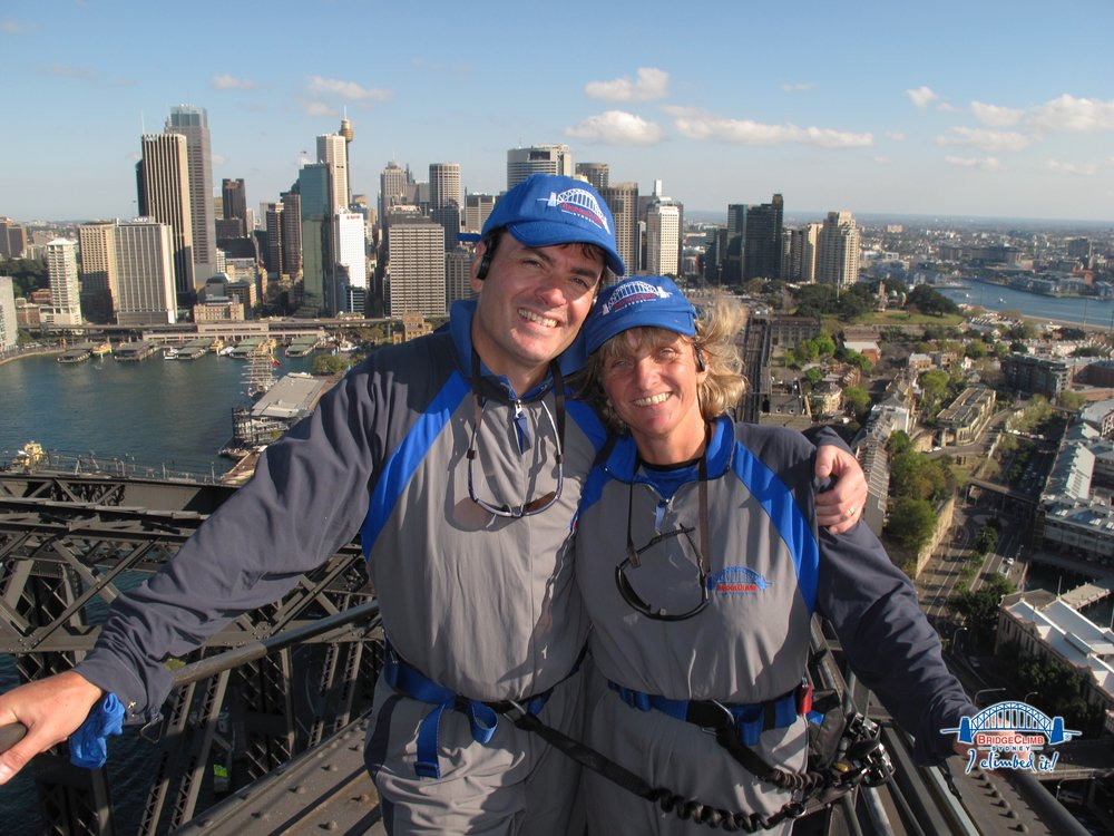 Scaling the Sydney Harbour bridge is a good way to get over jet lag as well as providing some thrilling views of the City.