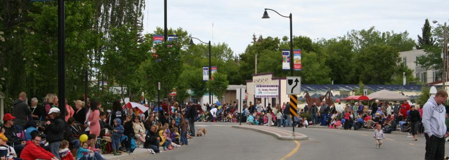 YEP. http://www.okotoks.ca/discover-okotoks/things-do/okotoks-annual-events/okotoks-annual-parade