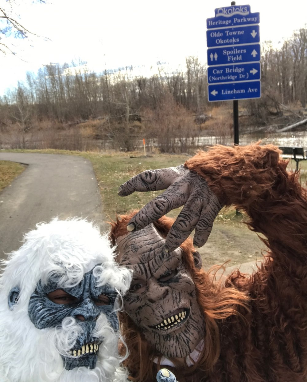 Yeti and gorilla in Lions Park causing havoc! (a.k.a., Brett and Julie)You are da bomb! Brett also purchased all the Dashers appies at the end of the day! You da man Brett!