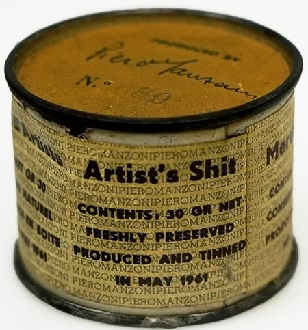 "1961 artwork by Piero Manzoni titled ""Artist's Shit."""