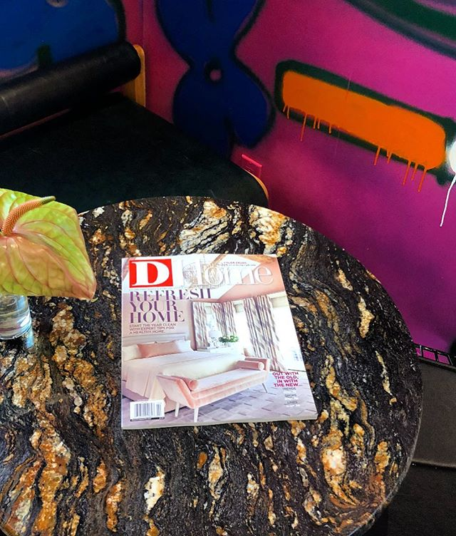 Great start of the year, look what we found 🤩❗️Thanks @dhome for showing our work in Jan/Feb 2019 issue #cover #awesomeclients #tracyhardenburgdesigns #blessed