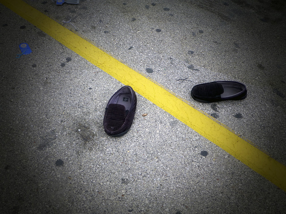 Shoes, Walmart parking lot