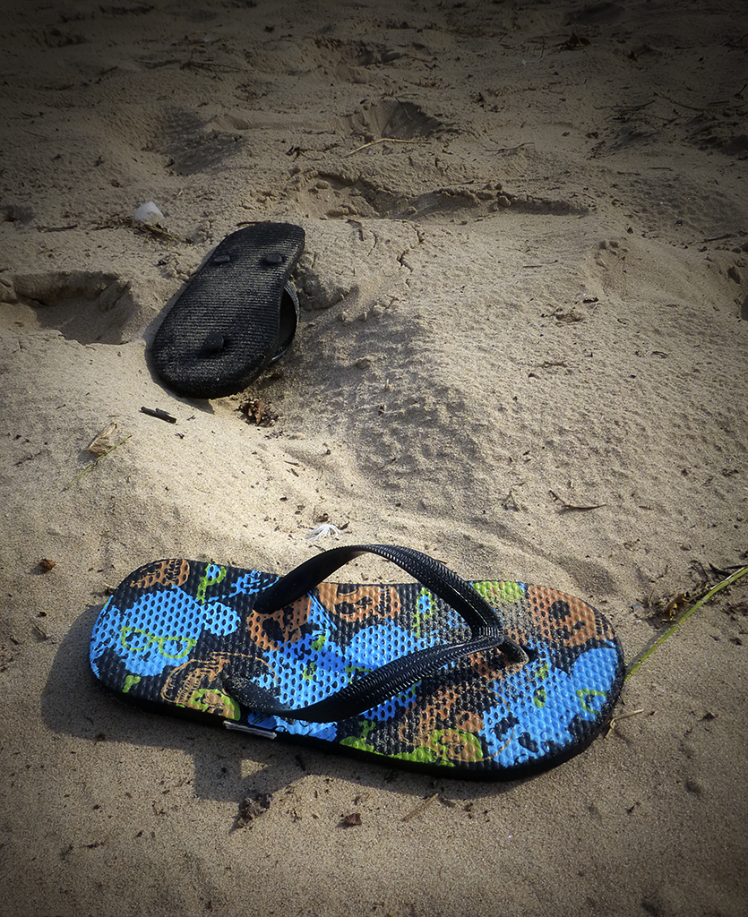 Flip Flops, Blue Harbor beach
