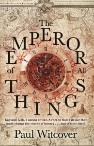 "THE EMPEROR OF ALL THINGS    Book 1 of The Productions of Time   ""When a publisher bandies about ingredients such as Philip Pullman, Susanna Clarke, Neal Stephenson and Justin Cronin, the book in question had better be one fancy dish of haute cuisine. Fortunately, Paul Witcover's  The Emperor of All Things  just about delivers on Bantam's claims. It's a novel of big ideas corralled by Witcover into a hugely entertaining read.""  ― The Independent"