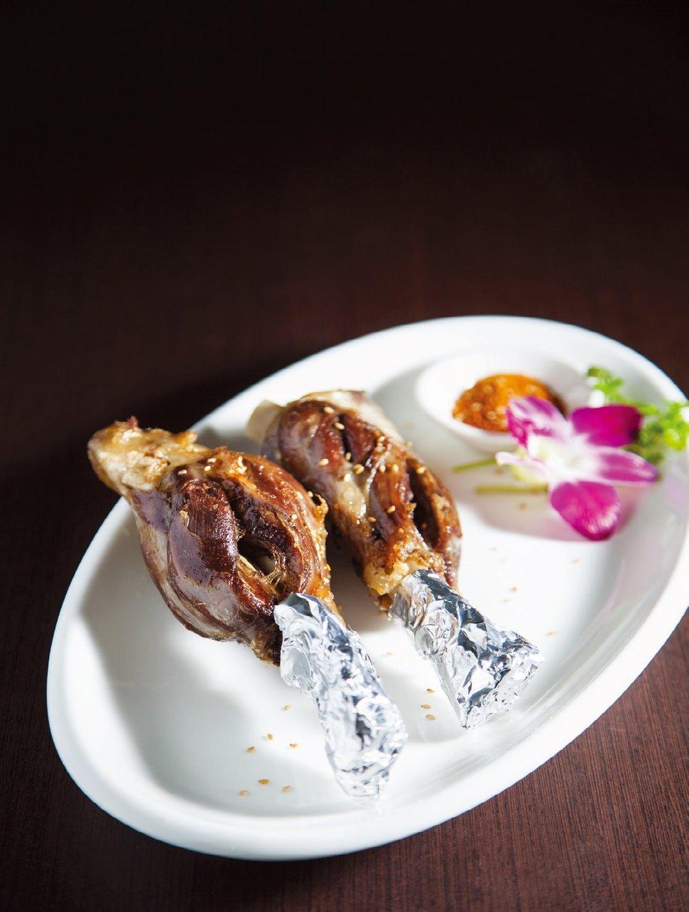 Xinjiang style lamb shanks