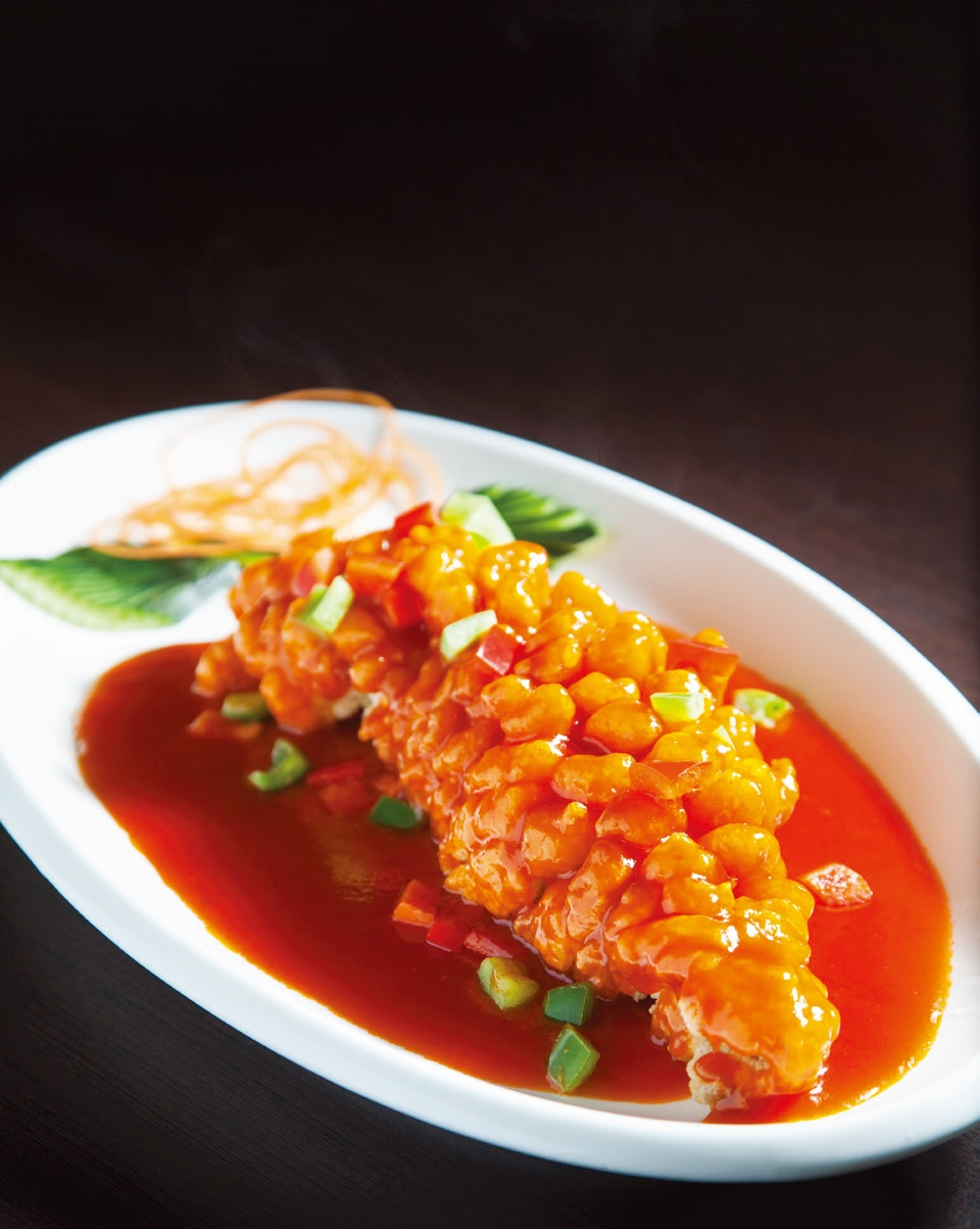 Sweet & sour red grouper (fish)