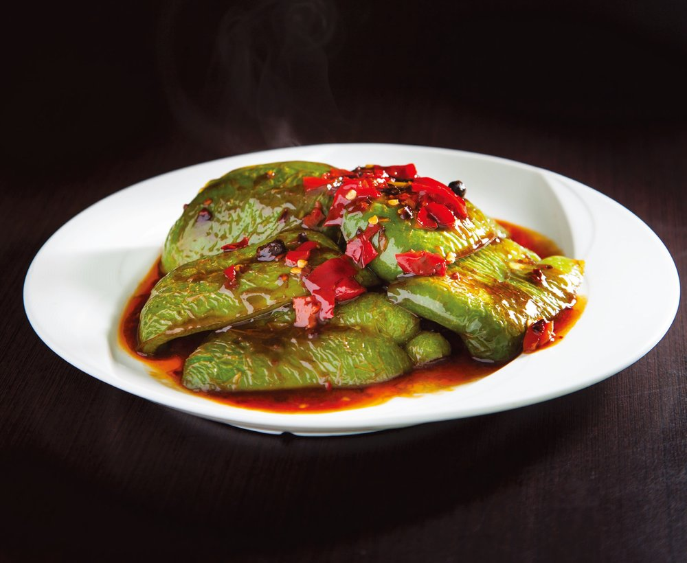 Stir fried green peppers