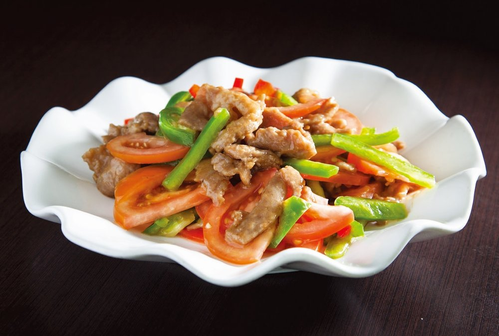 Xinjiang style stir fried lamb with veggies