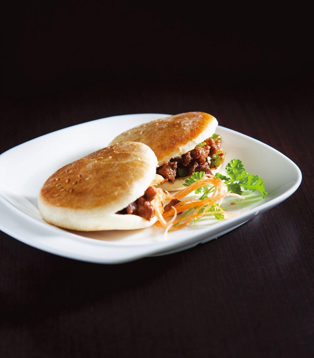 Xinjiang style lamb burgers