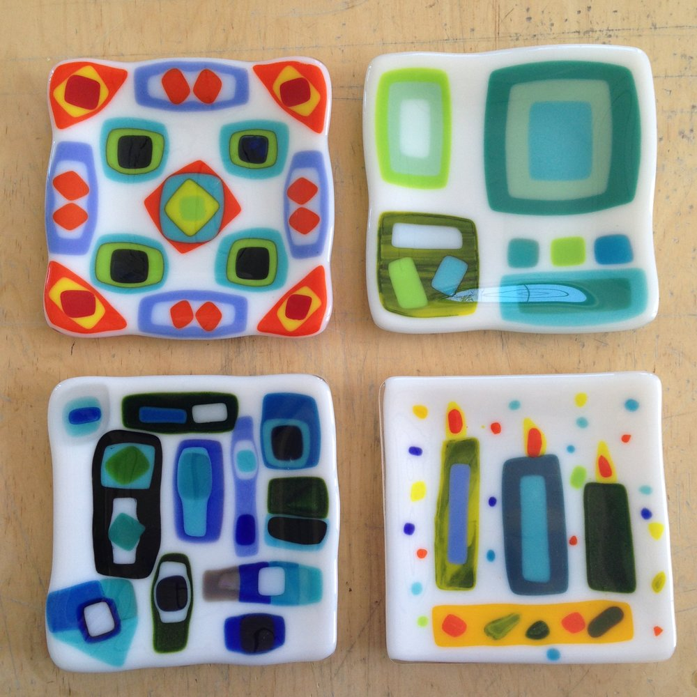 Fused Glass Stacked Sushi plates