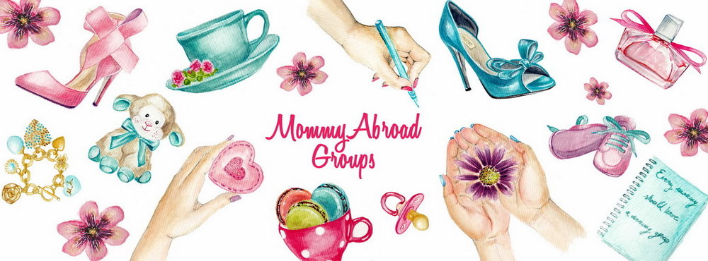 Illustrated banner for MommyAbroad group for social media display  by Irina Luchian