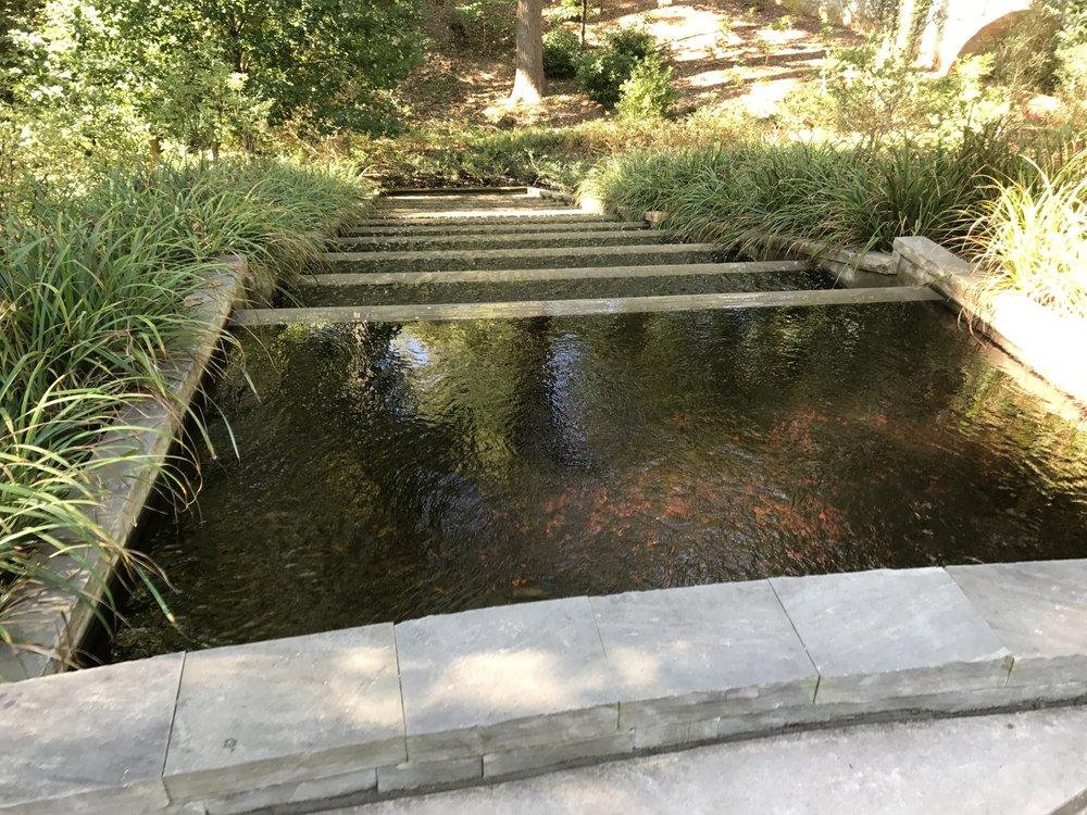 Water Feature Steps   Atlanta Botanical Gardens | Split Rock Design |  973 714 2306