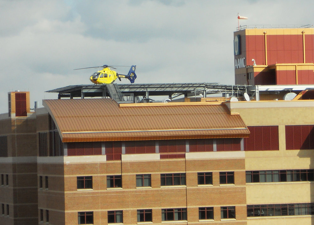 Heliports    Our firm has completed a number of helipad projects including retrofitting the roof of two of our clients' existing buildings to construct new helipads. We understand the FAA and code requirements necessary to successfully complete this very specific project type.