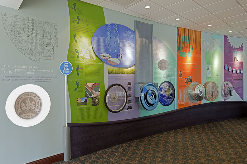 LEED Sustainability Exhibit  Anne Arundel Medical Center Annapolis, Maryland