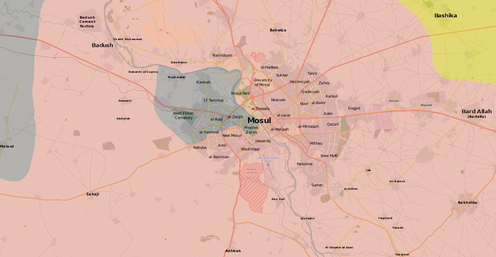 Map of the Battle of Mosul, source: Wikimedia Commons