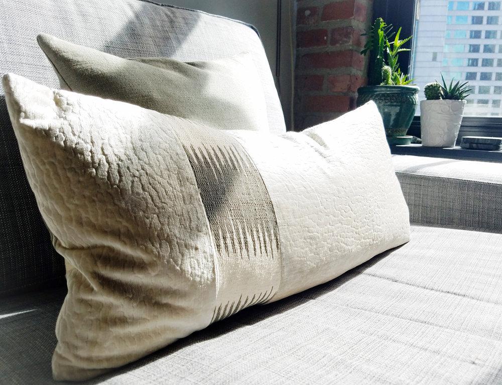 Velvet plush pillow