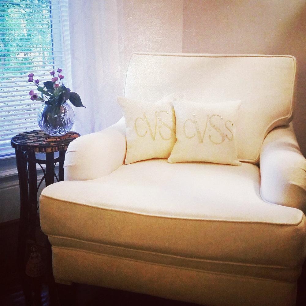 Custom monogrammed pillows