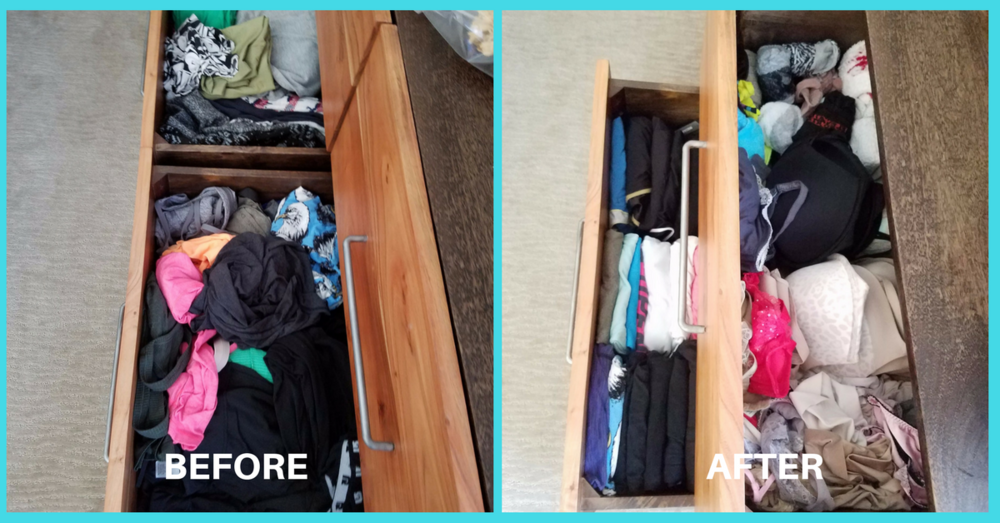 before and after drawers