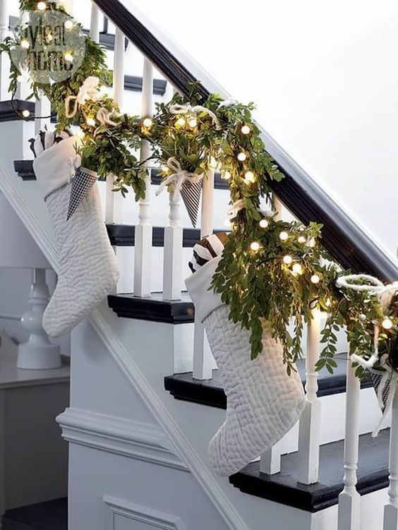 This is a great way to hang your stockings if you don't have a fireplace.