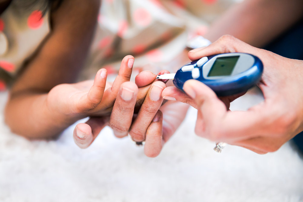capillary blood glucose TESTING or blood pressure testING