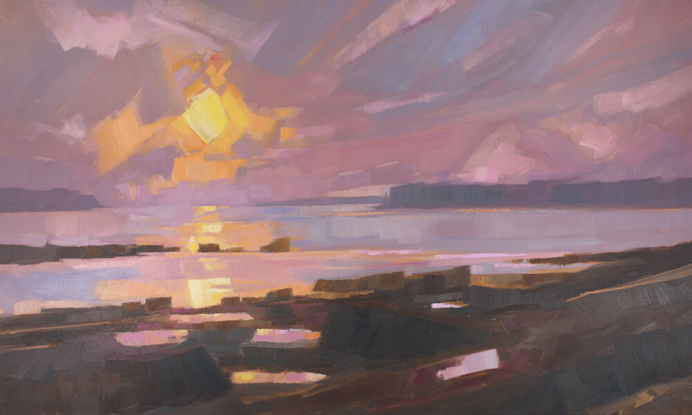 "Faith in the Sun, oil, 36"" x 60""  Available from  Courthouse Gallery"