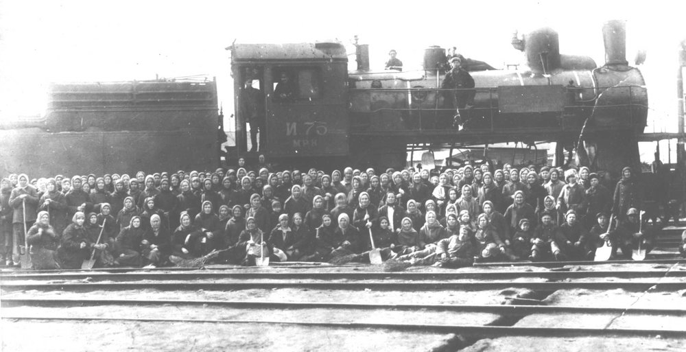 Soviet wartime railways relied heavily on female workers