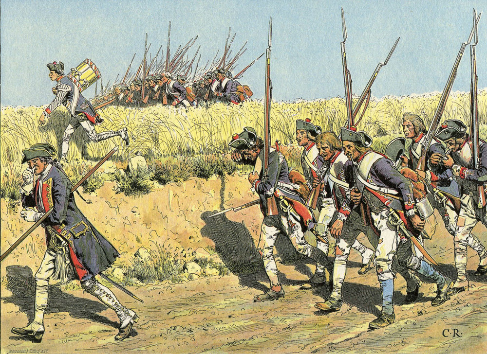 The image of hard marching armies in the Seven Years War
