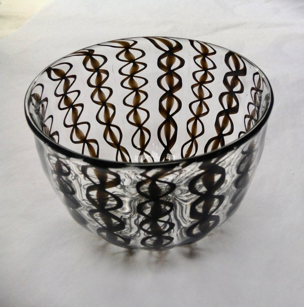 Black Ribbon Zanfirico Bowl