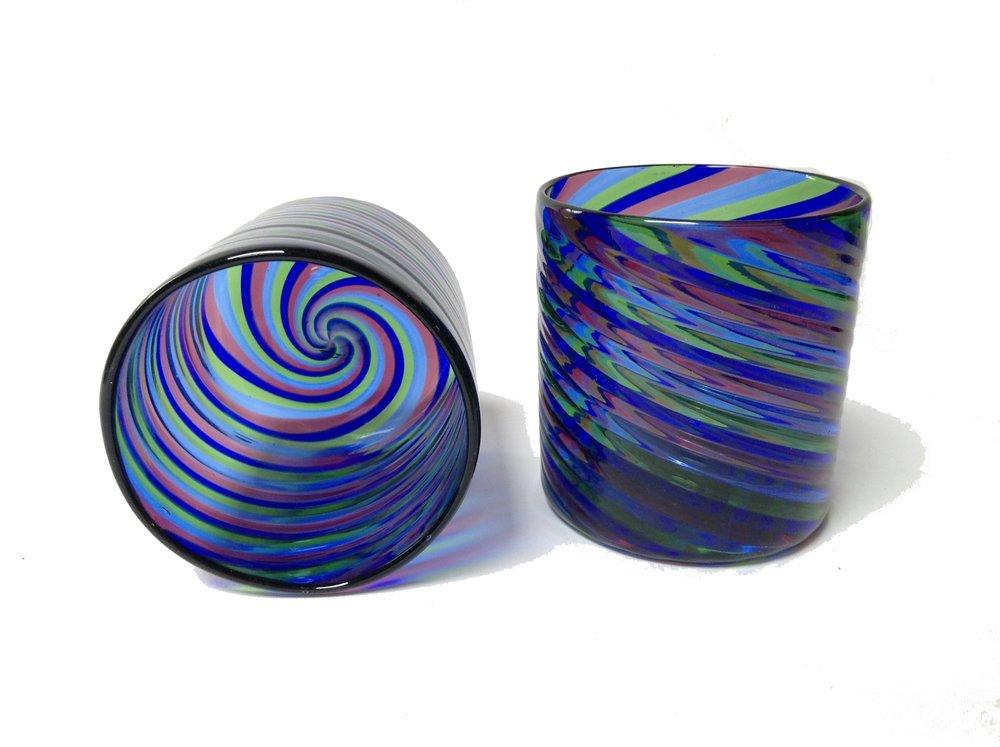 Cobalt and Purple Glass